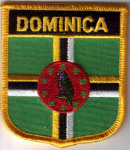 Dominica Embroidered Flag Patch, style 07.